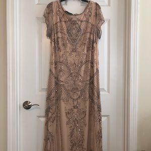Blush Sequin Longline Gown Sz 16